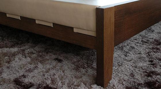 bett mit lederpolster steiger und lankes. Black Bedroom Furniture Sets. Home Design Ideas